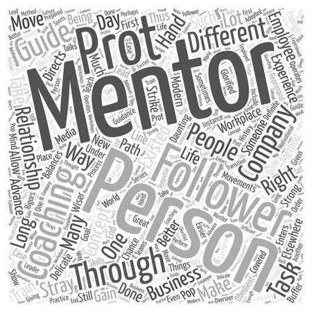coaching and mentoring word cloud concept