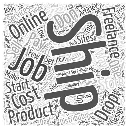 Low Cost Ways To Make Money Online word cloud concept Illustration