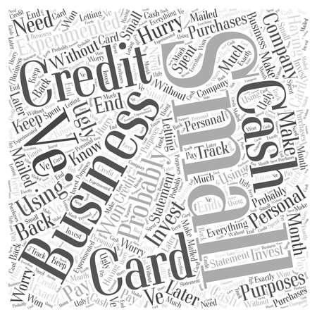 중소 기업 신용 카드 단어 구름 개념