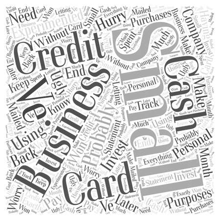 Small Business Credit Cards woord wolk concept Stock Illustratie