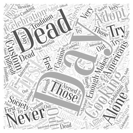 Cooking for the Day of the Dead word cloud concept