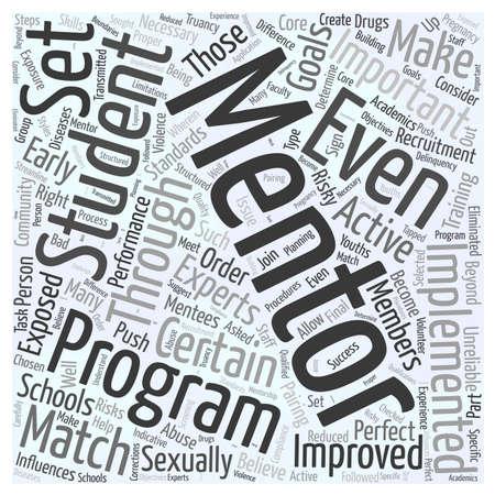 mentoring in schools word cloud concept Stock Vector - 66311962