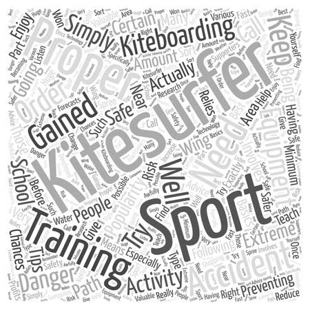 kitesurfing accident word cloud concept
