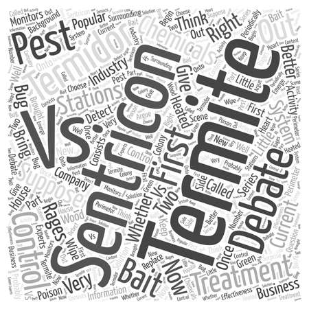 Termidor Termite Treatment vs word cloud concept Illustration
