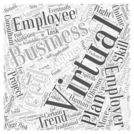 Virtual Employees word cloud concept
