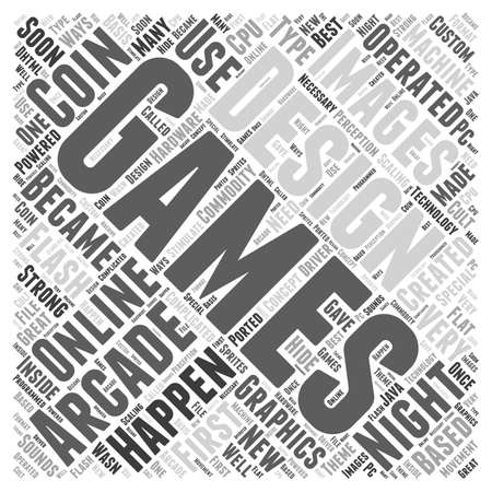 Designs for online gaming word cloud concept 向量圖像