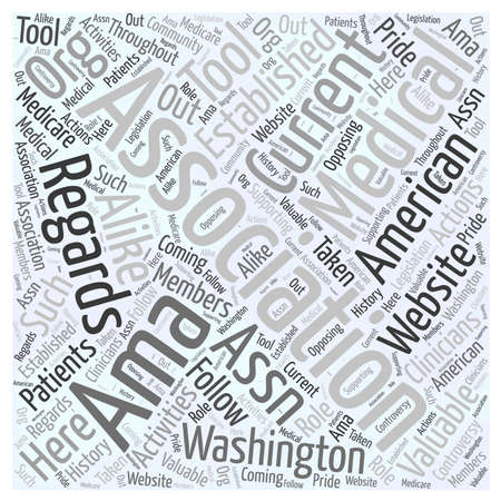 Wat is de American Medical Association woord wolk concept Stockfoto - 66313784