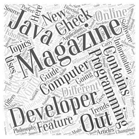 luminary: computer programming magazines word cloud concept Illustration