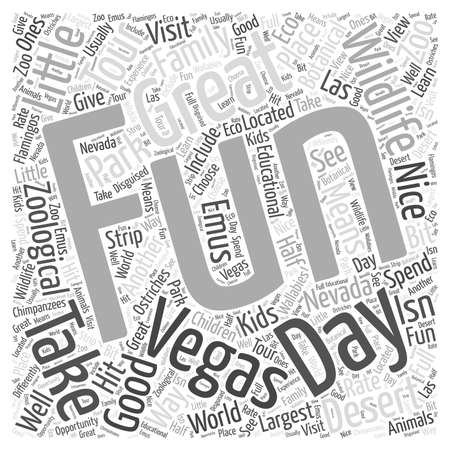 vegas strip: Good Family Fun in Vegas word cloud concept