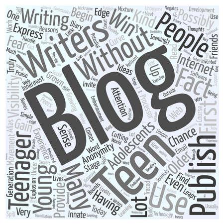 blogging teens Ilustração