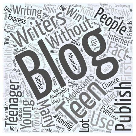 blogging: blogging teens Illustration