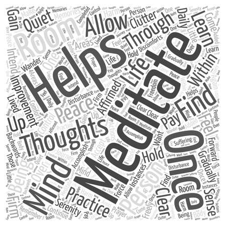 personal life improved through meditation word cloud concept