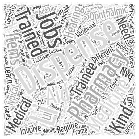 rigorous: Dispenser Jobs Require Rigorous Training word cloud concept