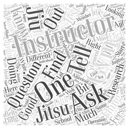 jiu jitsu: Finding a Jiu Jitsu Gym word cloud concept