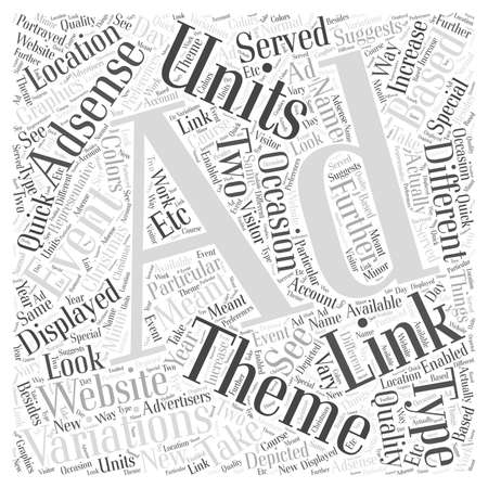 AdSense Ad variations Link Units and themed Ad Units