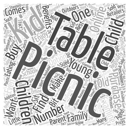 should: Kids Picnic Tables Should You Buy One for Your Child word cloud concept
