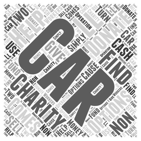 Options for car donations word cloud concept
