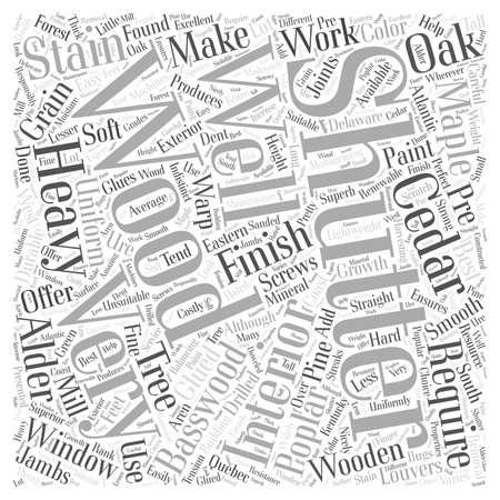 Wooden Shutters word cloud concept Ilustração