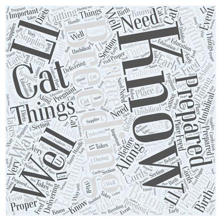 物事を知っている前に繁殖あなたの猫言葉クラウド コンセプト  イラスト・ベクター素材