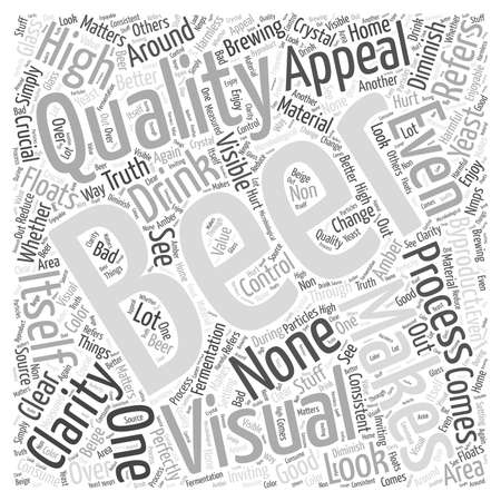 clarity: Making Your Beer Crystal Clear word cloud concept Illustration