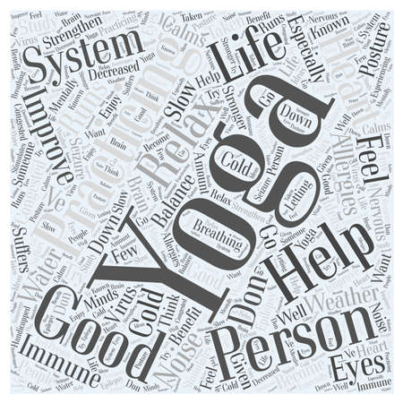 Improve your Personal Life with Yoga word cloud concept