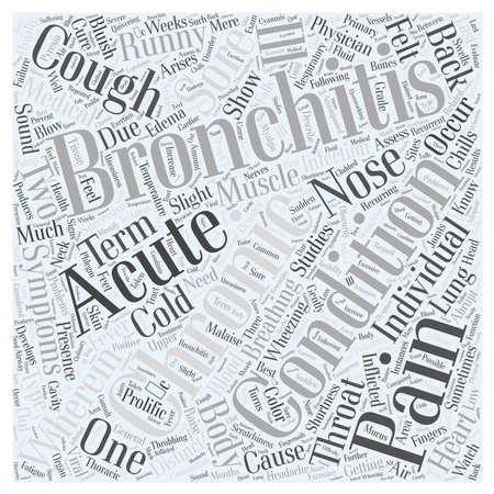 bronchitis: bronchitis symptom Illustration