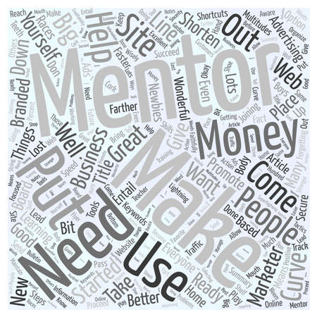 Mentoring Shortens Your Learning Curve word cloud concept