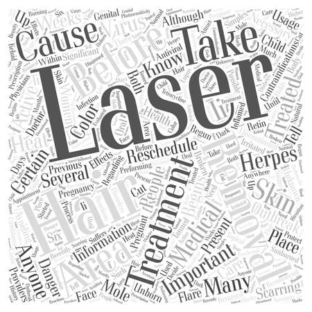 scarring: Contraindications of Laser Hair Removal word cloud concept Illustration