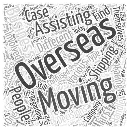 moving business overseas word cloud concept