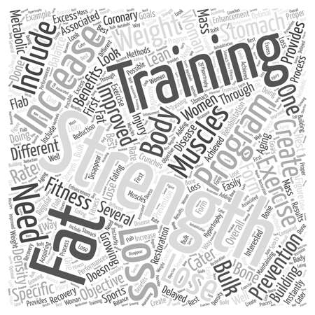 fitness woman word cloud concept