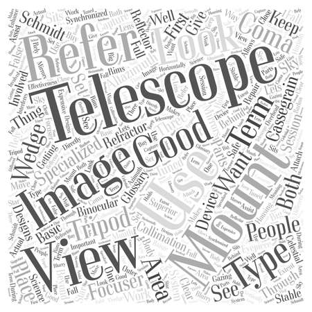 The Glossary of Telescopes word cloud concept