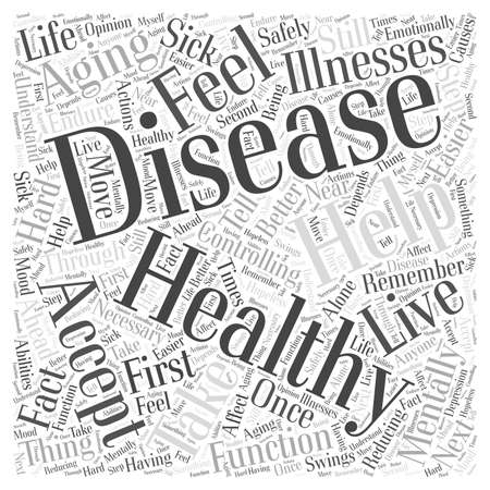 mentally: Controlling Disease in Healthy Aging word cloud concept