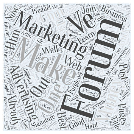 Forum Marketing Advertising Online word cloud concept