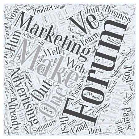 htm: Forum Marketing Advertising Online word cloud concept