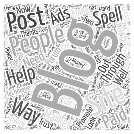 posting: what forum posting techniques that can help you promote your blog word cloud concept