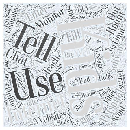 chat room: BW Internet safety for kids1 Illustration