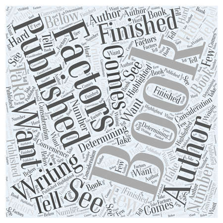 will: Will Your Book Get Published word cloud concept