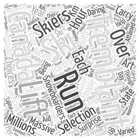 hardly: Tremblant In Canada word cloud concept