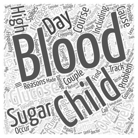 Getting Back on Track after Blood Sugar Spikes word cloud concept Illusztráció