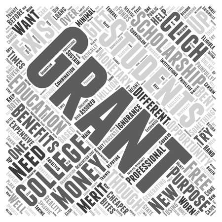 college free grant money scholarship word cloud concept