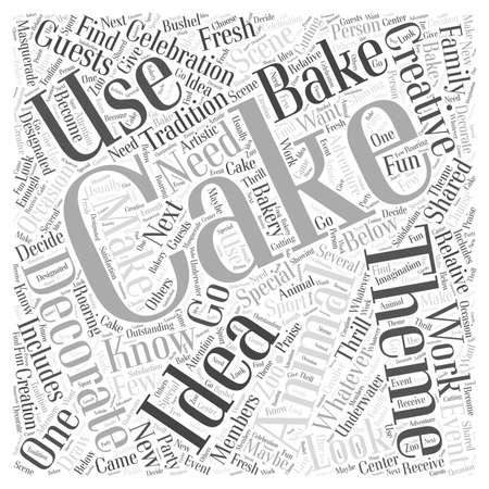 decorating: Creative Cake Decorating Ideas word cloud concept