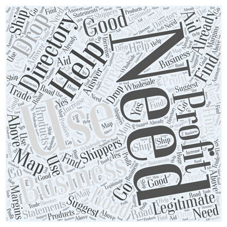 legitimate: The Road Map to Good Business Uses The Directory word cloud concept