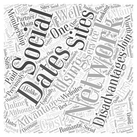advantages: The Advantages and Disadvantages to Using Social Networking Sties to Find Dates word cloud concept