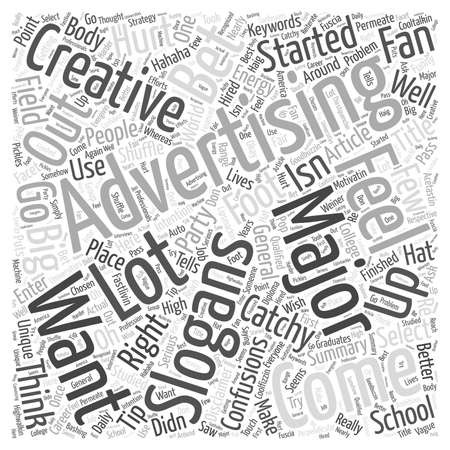 catchy: Coming Up With Catchy Advertising Slogans word cloud concept Illustration