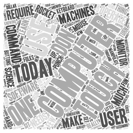 Using Computers word cloud concept