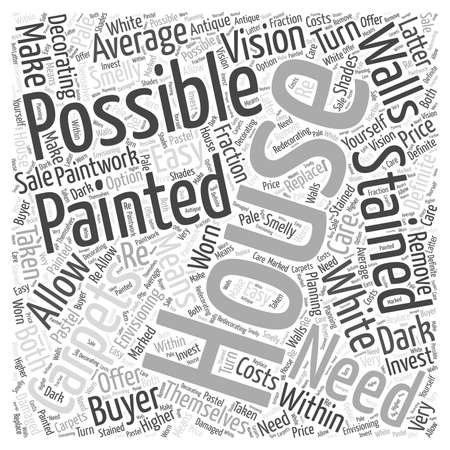 painting and decorating word cloud concept
