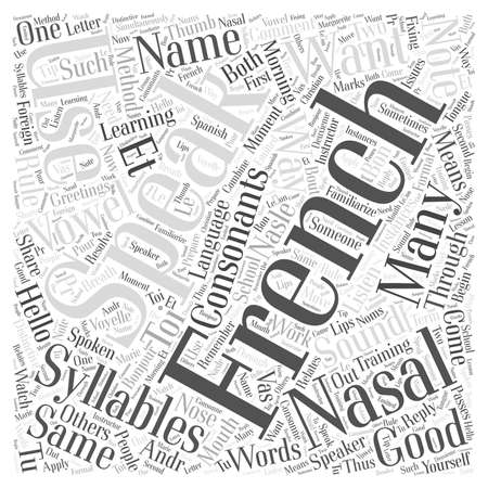 Syllables in Learning French through Foreign Language Training word cloud concept