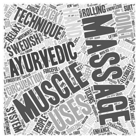 A Choice between Swedish and Ayurvedic Massage Methods