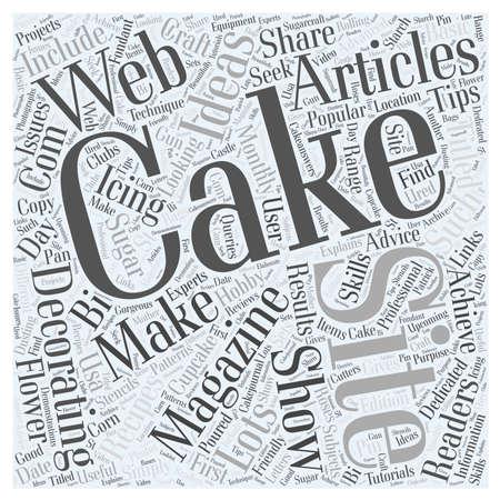 decorating: cake decorating magazine 23 Illustration