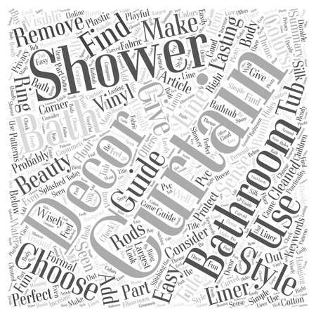 あなたの浴室の装飾不変の美のためにシャワー ・ カーテンを追加します。